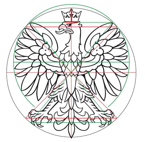 geometria orła projekt ALW, wersja rysunkowa