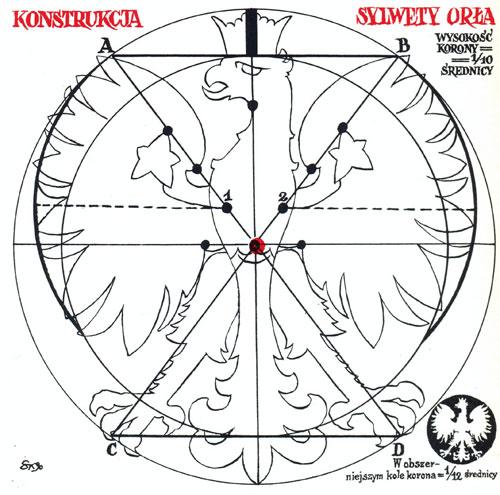 geometria orła, rysunek Sz. Kobyliński