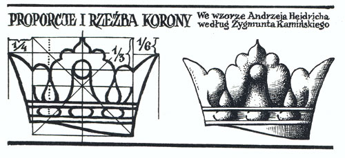 """rysunek korony z książki Sz. Kobylińskiego """"Losy orła"""""""