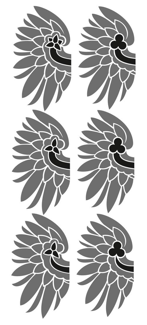 szkic przepaska i trójliść albo koniczyna na skrzydle
