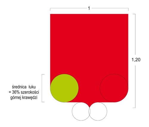 kształt tarczy herbu po korekcie