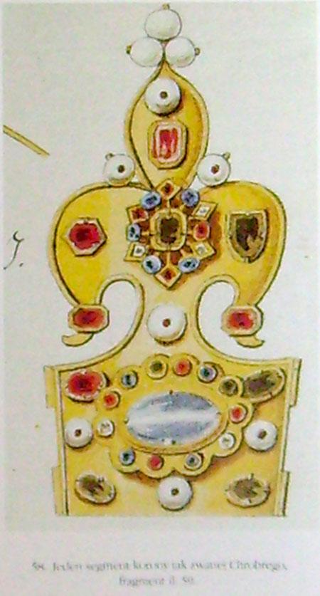 segment tzw korony Chrobrego, fragment rysunku J.K. Wernera