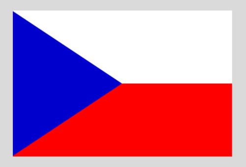 Flaga państwowa Czechosłowacji 1920 – 2000 i Czech od 2002 r.