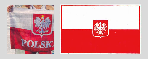 Kibic-flaga, flaga Pana Szymona – projekt 1989