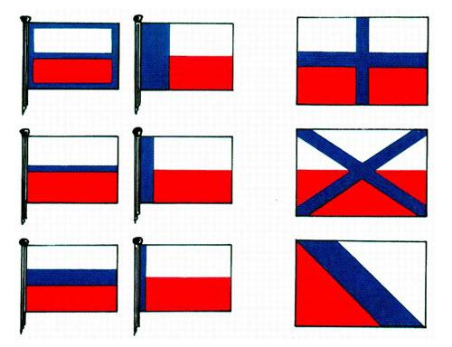 Niektóre projekty flagi państwowej dla Czechosłowacji z lat 1918-1920