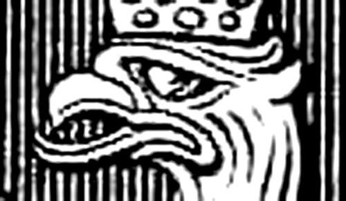 fragment godła Orzeł Biały z roku 1927  Fragment godła Orzeł Biały z roku 1927, wersja czarno-biała
