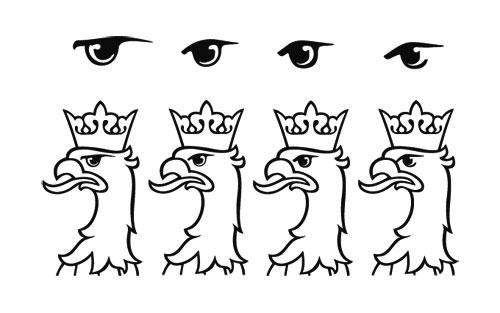 zmiana kształtu oka orła