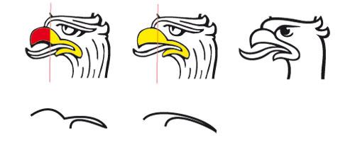 kształt dzioba orła