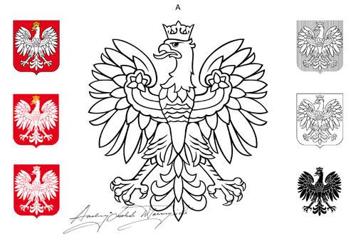 Projekt A uproszczonej wersji herbu RP