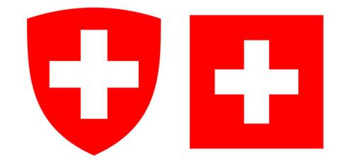 herb i flaga Szwajcarii