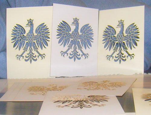cięcie orła w papierze 2