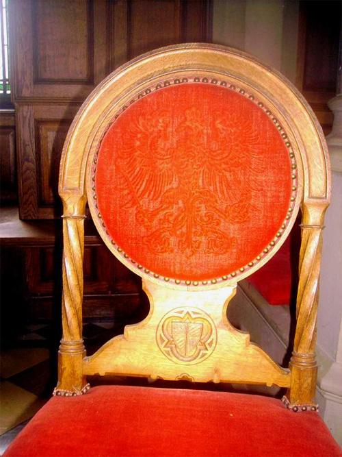 obicia żakardowe foteli Hohenzolenberg