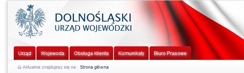 fragment nagłówka strony www Dolnośląskiego Urzędu Wojewódzkiego