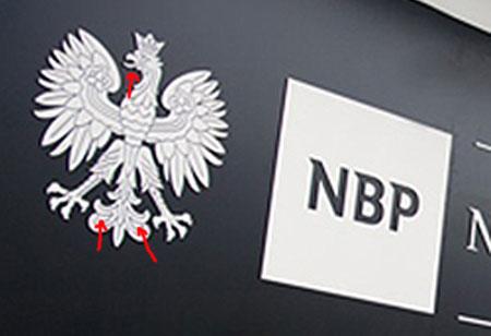 orzeł w nowej identyfikacji NBP - realizacja