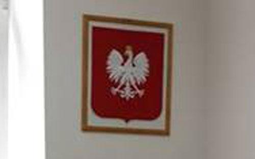 herb RP w gabinecie posła Ryszarda Kalisza - powiększenie