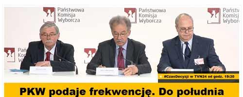 Państwowa Komisja Wyborcza z logosem