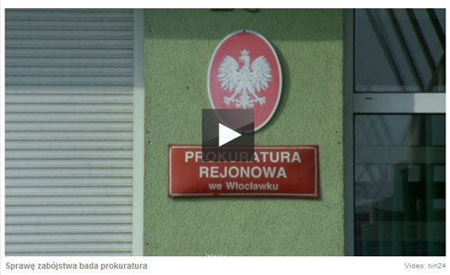 tablica na budynku Prokuratury we Włocławku, znaleziona na tvn24