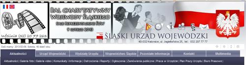 nagłówek strony www Śląskiego Urzędu Wojewódzkiego