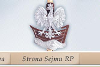 nadłówek strony Sejmu RP