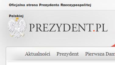 strona Prezydenta RP