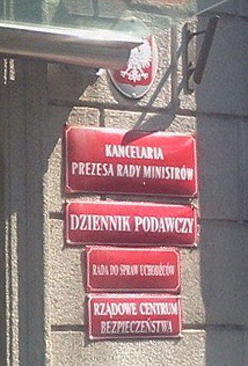 tablice Kancelaria Premiera
