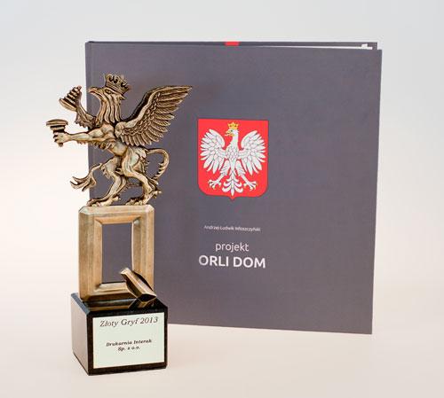 Złoty Gryf 2013 dla drukarni INTERAK