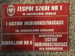 tablica Zespołu Szkół