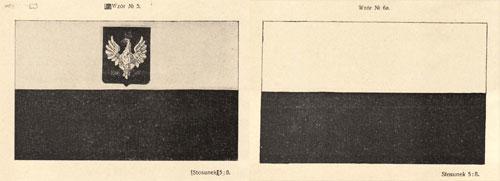 Dwie flagi państwowe RP – wzory z ustawy z 1919 r.