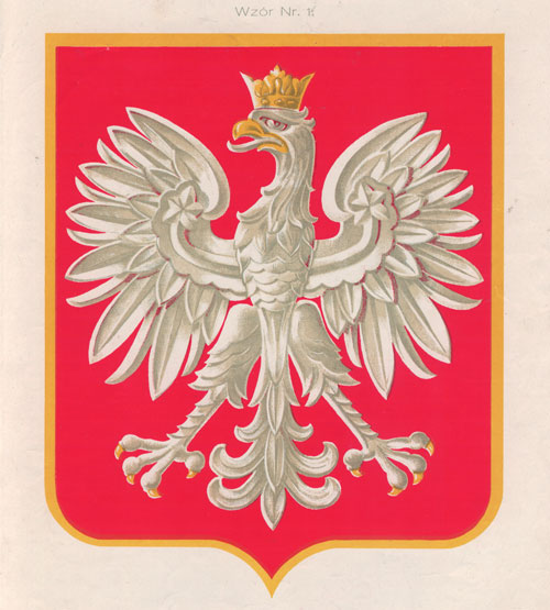Herb Rzeczypospolitej zwany Orłem Białym wz. 1927 projektu Prof. Z. Kamieńskiego