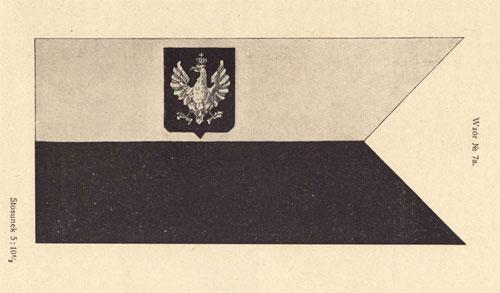 Bandera wojenna RP – wzór z ustawy z 1919 r.