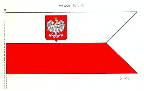 Bandera wojenna wz. 1927 – nie pełniła już funkcji flagi wojennej lądowej
