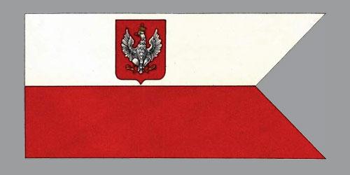 Flaga wojenna lądowa ibandera wojenna wg broszury Łozy