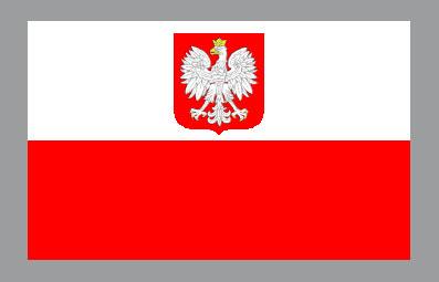 Flaga przedstawicielstw dyplomatycznych RP (symbol państwa wobec zagranicy)