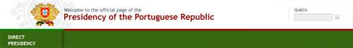 nagłówek strony Prezydenta Portugalii