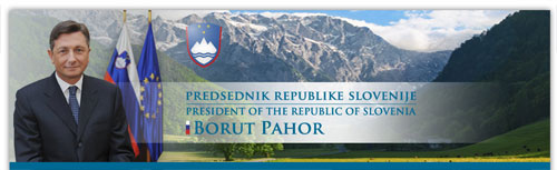 nagłówek strony Prezydenta Słowenii