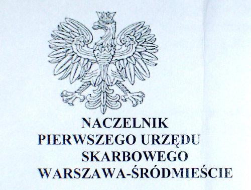 nagłówek z godłem I US Warszawa