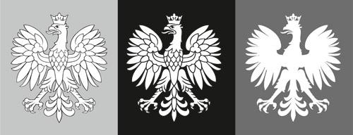 3 wersje orła z projektu Orli Dom, proj. ALW