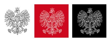 godło Polski w negatywie