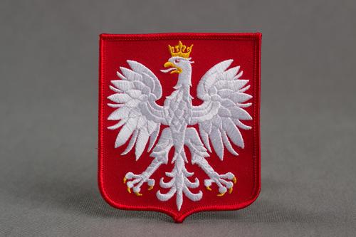 godlo Polski - herb Rzeczypospolitej, naszywka haftowana, projekt Orli Dom