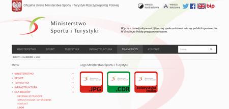 strona www Ministerstwa Sportu i Turystyki