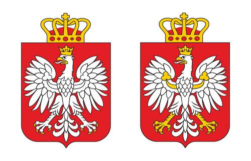 godło, herb RP, z dodaną koroną zamkniętą