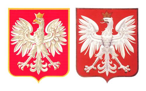 2 wersje herbu Rzeczypospolitej z 1927 r.