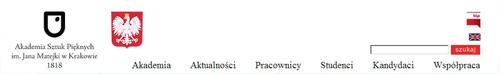 ASP Kraków nagłówek strony www