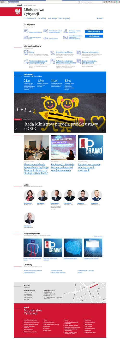 Ministerstwo Cyfryzacjii screen strony www 21-09-2017