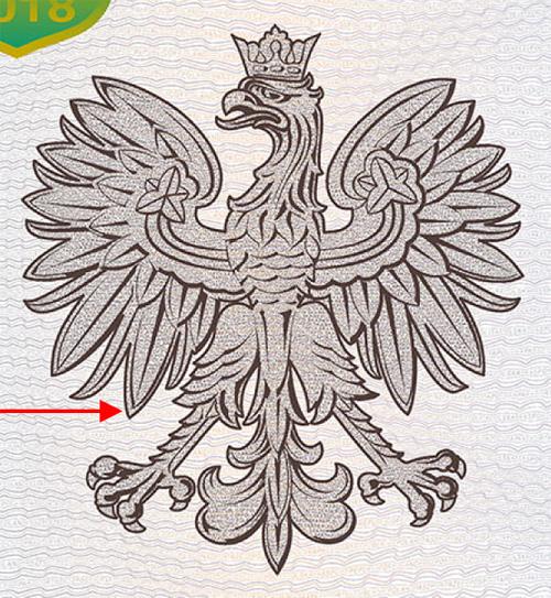 Paszport 2018 drugi wzór orła