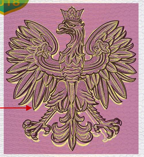 Paszport 2018 porównanie sylwet orłów, nałożenie