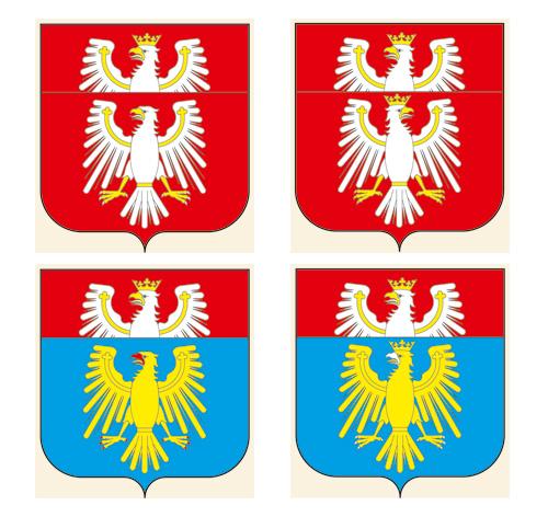 projekty herbów wojewódzkich J. Michta