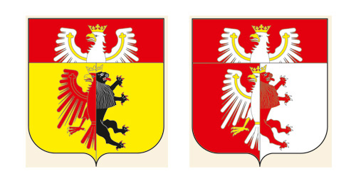projekty herbów wojewódzkich J. Michta 2
