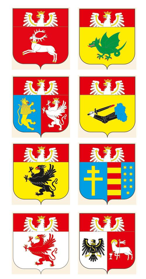 projekty herbów wojewódzkich J. Michta 4